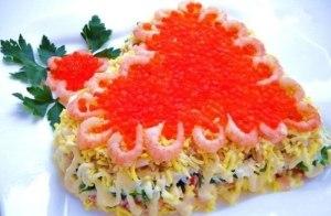 """Праздничный салат """"С любовью"""" фото"""
