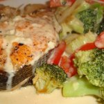 Рыба с овощами в сливочном соусе