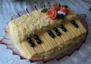 "Салат ""Белый рояль"" фото"