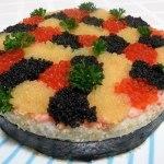 Суши-торт «3 икринки»