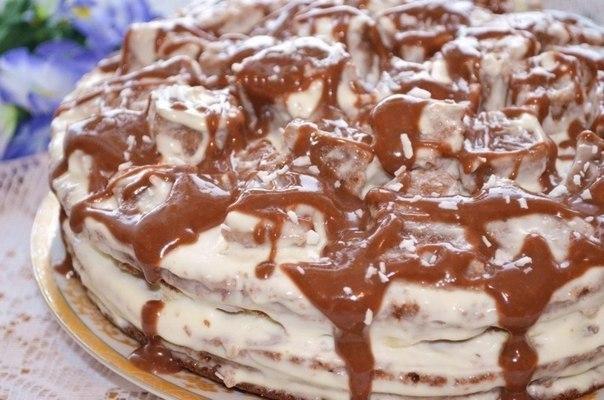 Вкуснейший шоколадно-банановый торт