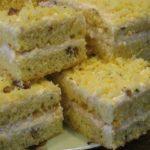 Пирог на сгущенном молоке с кремом из творога