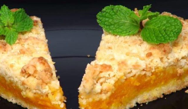Насыпной тыквенный пирог с апельсиновым ароматом – это бомба