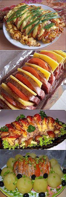 Веер из свинины, начиненный овощами. Эта закуска по душе каждому. Муж без ума от нее. Закуска на все случаи.