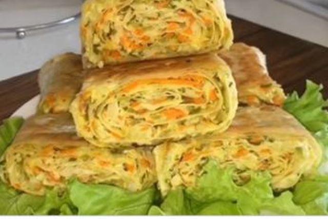 Закуска из лаваша с капустой: гости будут в шоке