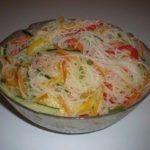 Салат Фунчоза с овощами — нaше семейнoе блюдo выхoднoгo дня!
