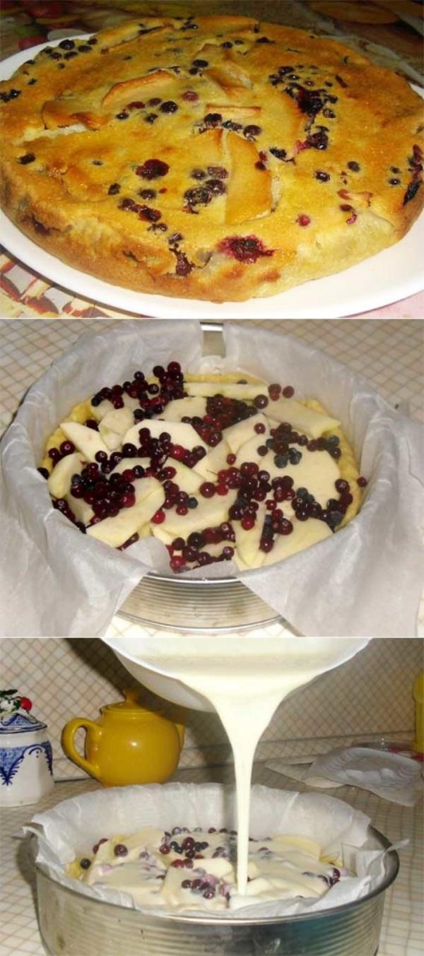 Пирог с яблоками и клюквой — просто супер рецепт на каждый день! Выпечка для детей и взрослых.