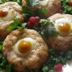 «Гнезда» из куриного фарша — закуска вне конкуренции! Полезно и оочень вкусно.