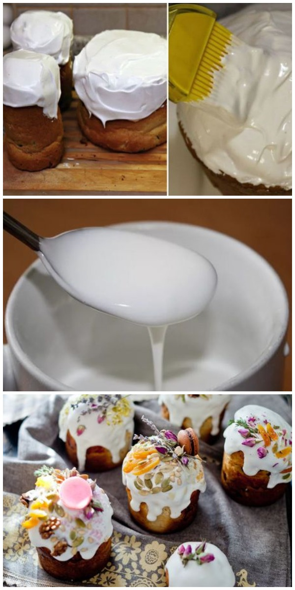 5 рецептов глазури для куличей