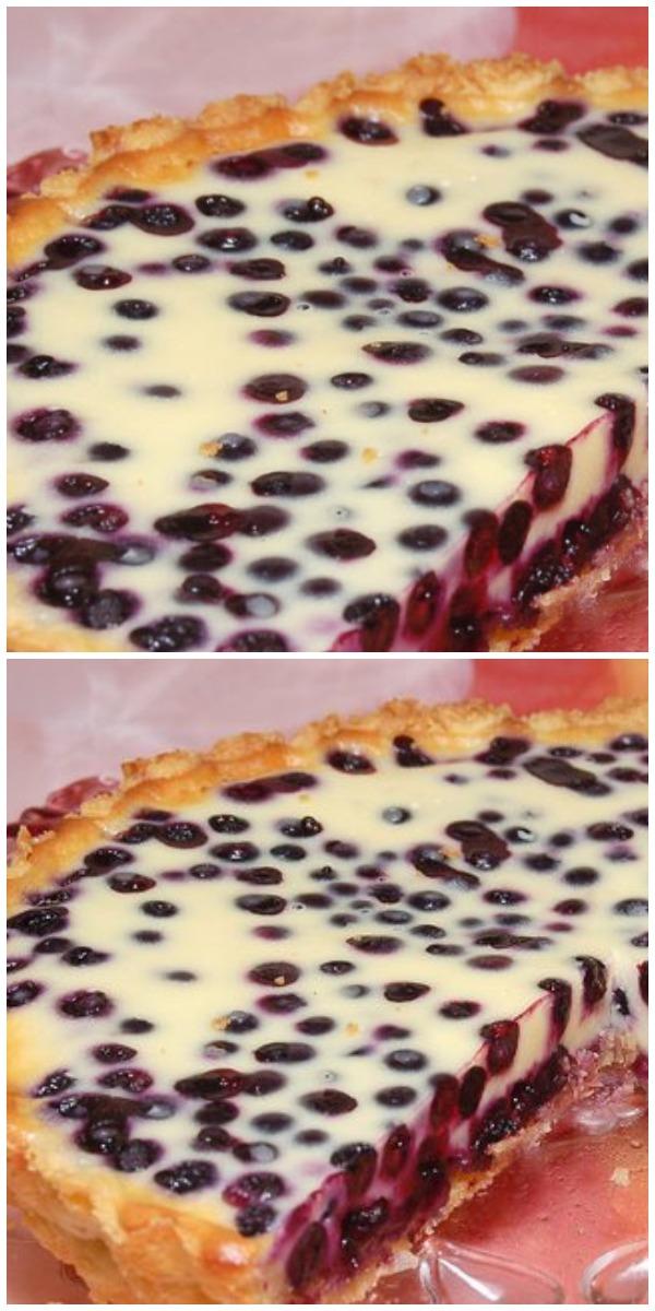 Песочный пирог с черникой. Попробуйте — впечатлит!