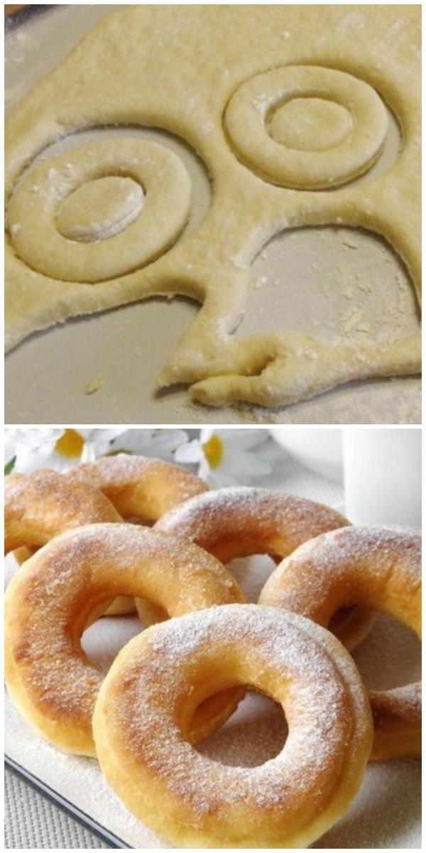 Изумительные пончики на кефире за 10 минут - вкуснее и проще не бывает