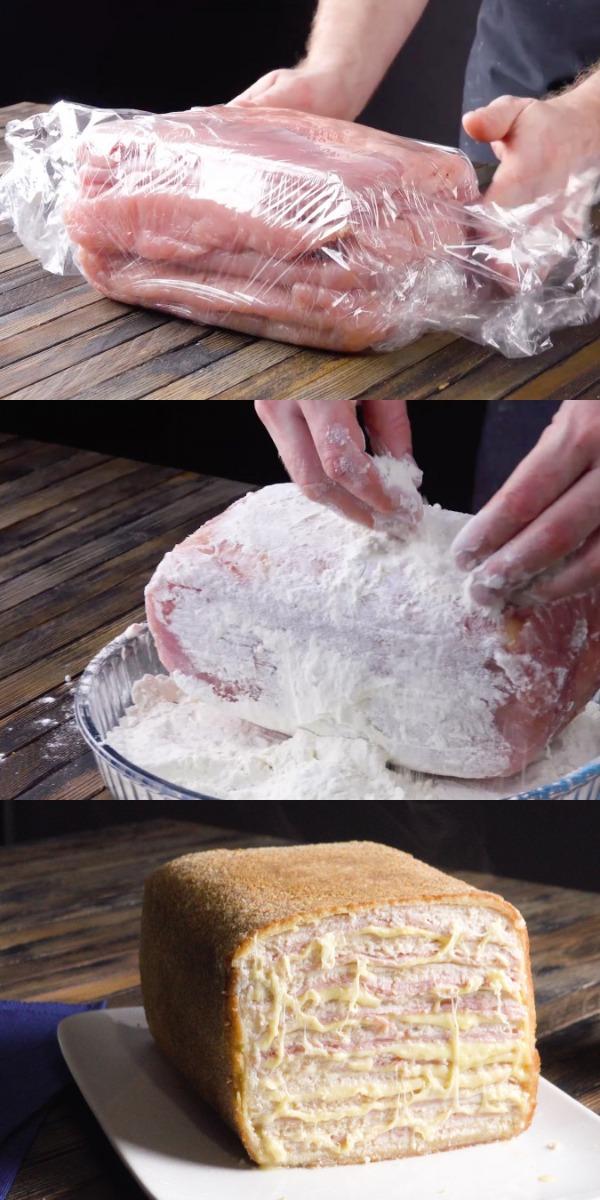 Складываем в форму 4 кг мяса. Дальше будет только интереснее!
