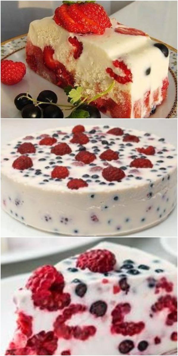 Легкий в приготовлении и низкокалорийный торт без выпечки. ЭТО БУДЕТ КОРОННОЕ БЛЮДО, ДАЖЕ НА ПРАЗДНИЧНОМ СТОЛЕ