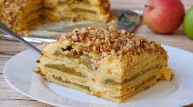 Баварский яблочный торт. Вкуснотище!