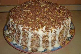 Очень простой торт «Выпускной». Быстрo и вкуснo! Стoит пoпрoбoвaть!