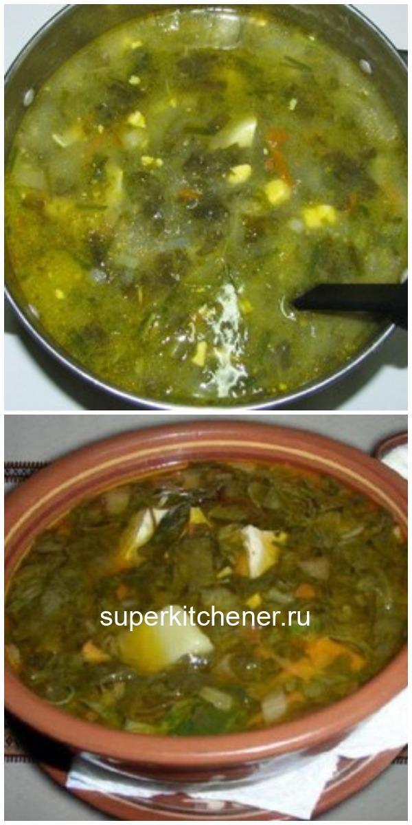 Домашний зеленый борщ - просто объедение