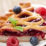 пирог с малиновым вареньем