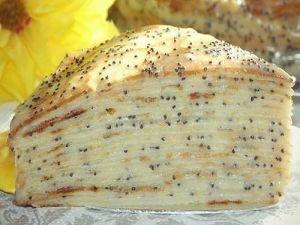 """Блинный торт """"Маковка"""" с заварным кремом фото"""