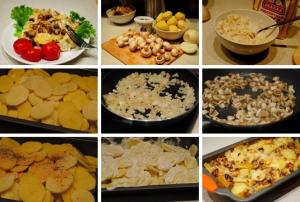 Картофель с шампиньонами в сметане фото
