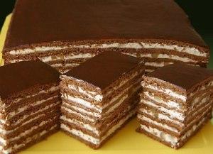 Торт медово-шоколадный с орехами фото
