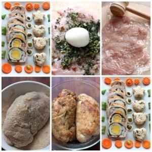 Куриные биточки с яйцом фото