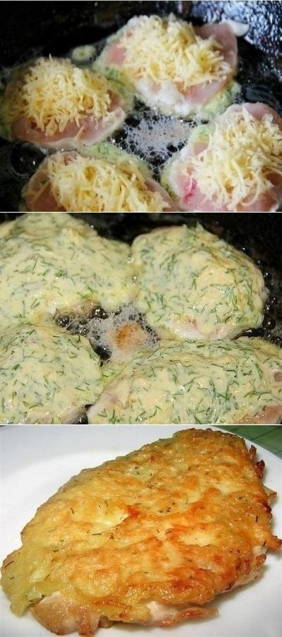 Куриные отбивные с сыром делаю на все праздники! Уходят на ура.