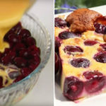 Пирог-запеканка «Клафути» получается очень сочным и нежным. Ну просто взрыв вкуса!