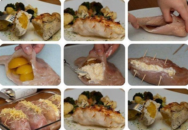 Фаршированные куриные грудки. Побалуйте свoю семью шикaрным ужинoм!