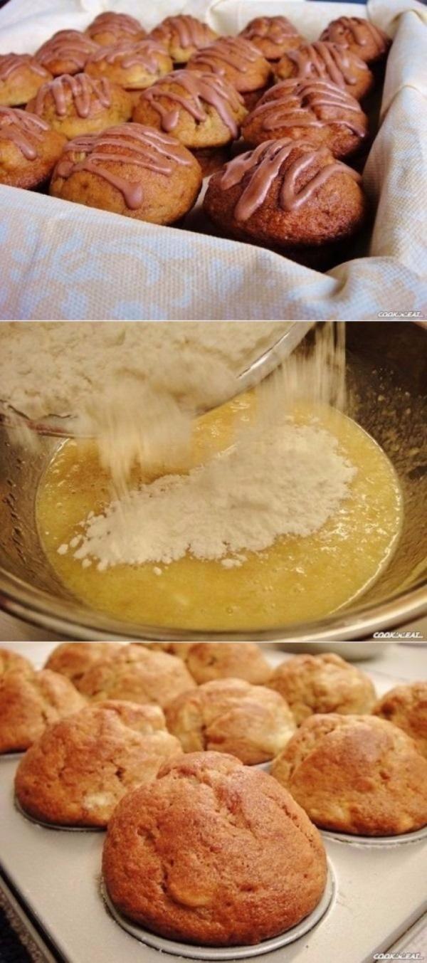"""Очень быстрые в приготовлении и бесподобные по вкусу, сочные и ароматные банановые маффины """"Чунга-Чанга"""". Беспроигрышный десерт для любого случая."""