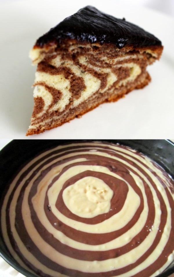 "Торт ""Зебра"" - коронное блюдо моей соседки"