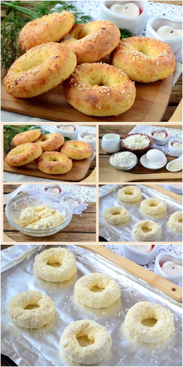 Творожные бублики с сыром. Обожаю эту выпечку!