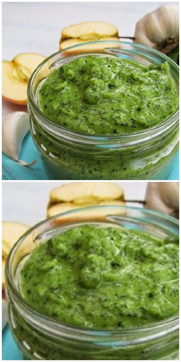 Безумно вкусный зелёный соус из петрушки за 5 минут