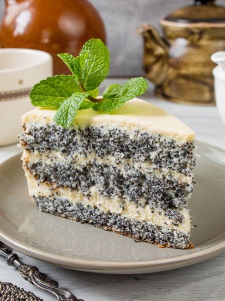 Изумительный торт с маком «Блаженство». Невероятно нежный и вкусный.