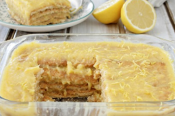 Отменный лимонный торт без выпечки