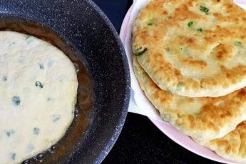 Как приготовить вкусные лепешки с зеленью на кефире 1