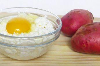 180 грамм творога + 2 картошки и вкусное блюдо готово 1